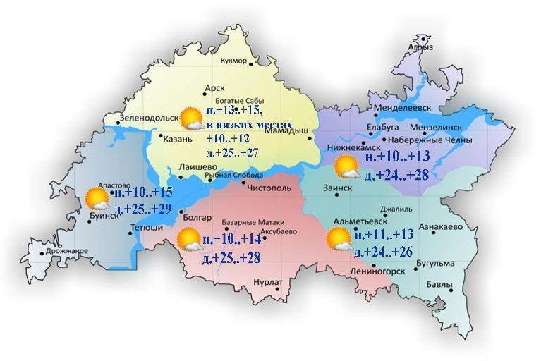 12 июля в Татарстане ожидается 29 градусов тепла