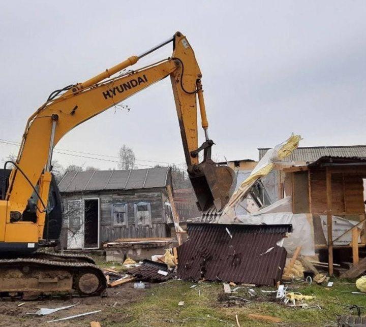В Кировском районе Казани начали сносить дома для строительства дороги-дублера