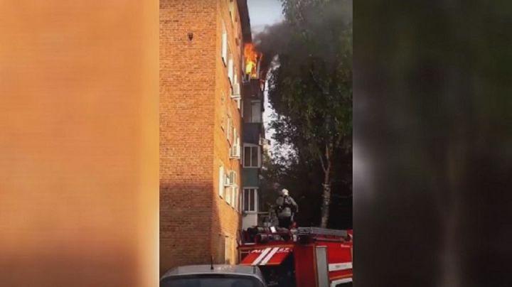В Чистополе госпитализировали пострадавшего во время пожара мужчину
