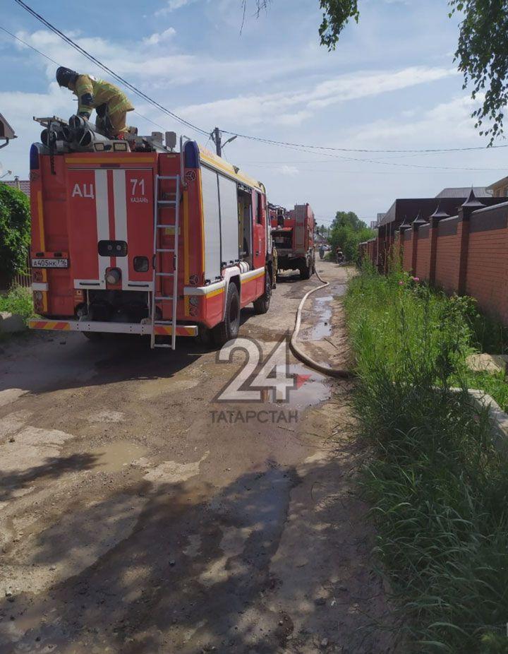 В казанском СНТ вспыхнул частный дом