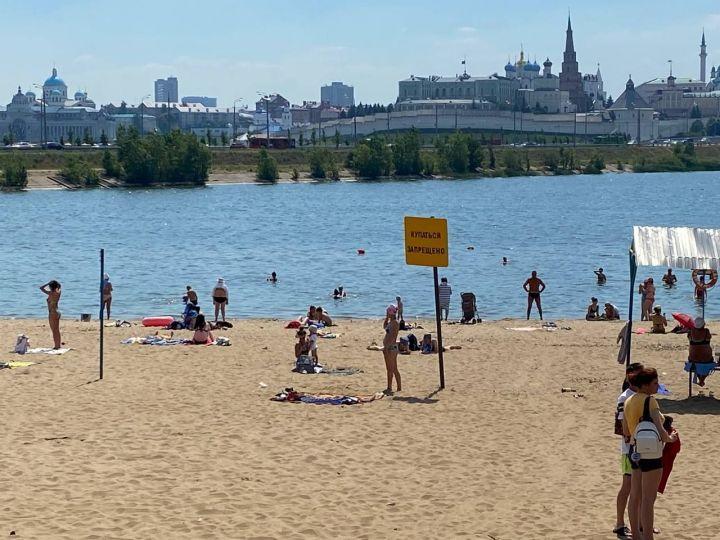 Казанцы атаковали все городские пляжи из-за аномальной жары