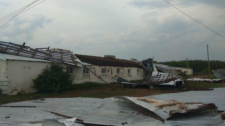 На несколько районов Татарстана обрушился ураган