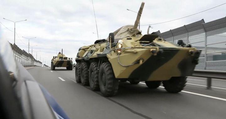 До 30 июля по дорогам Татарстана будут ездить воинские колонны