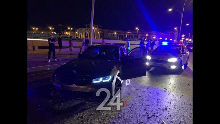 В Казани водитель BMW потерял управление и вылетел на встречку