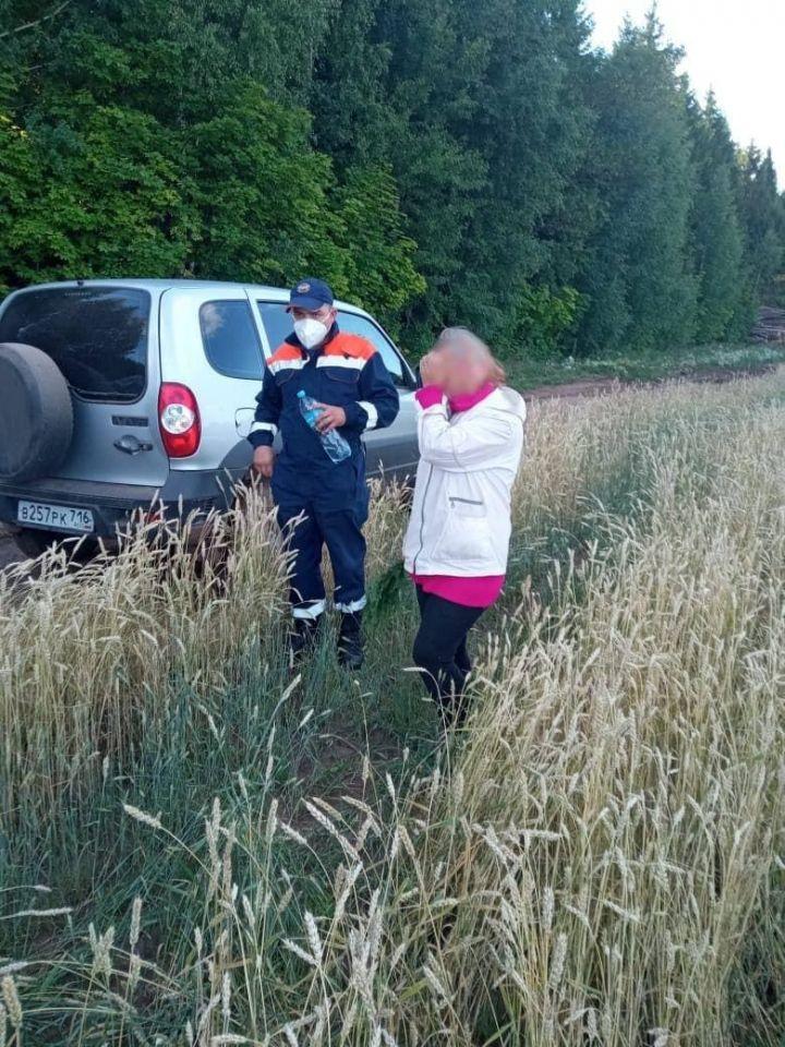 В Татарстане спасатели помогли найти потерявшуюся в лесу женщину
