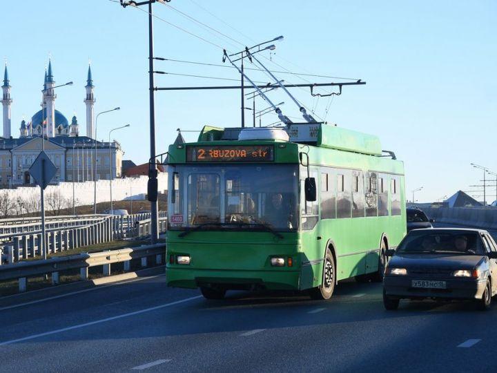 С 1 августа в Казани временно изменится маршрут троллейбуса №2