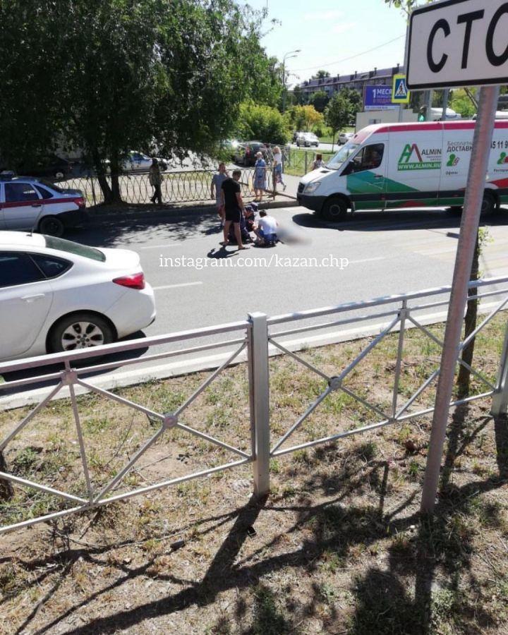 Соцсети: в Казани грузовик сбил пенсионерку на пешеходном переходе