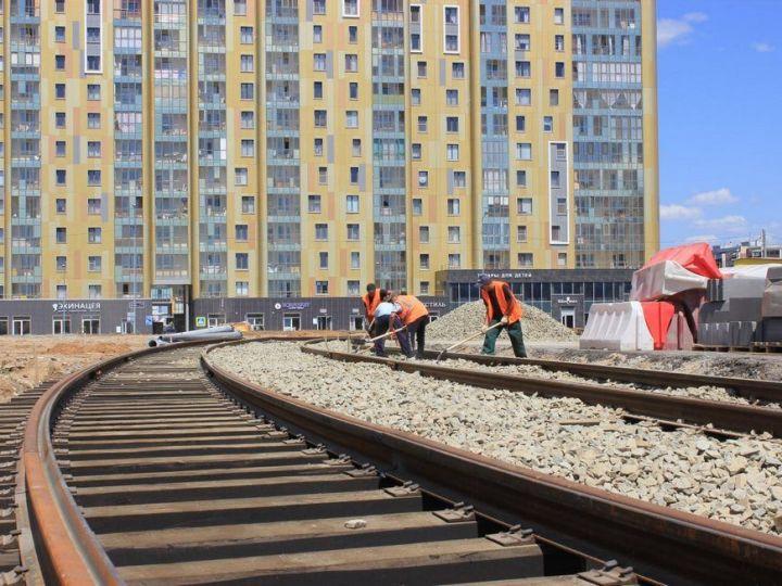 В Казани сразу на нескольких участках проводят реконструкцию трамвайных путей