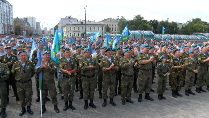 Десантники Казани отметили День Воздушно-десантных войск