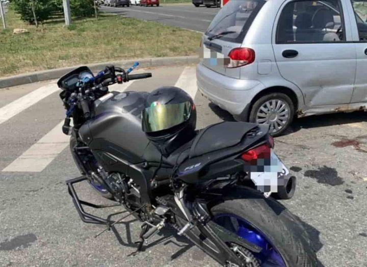 В Казани произошла массовая авария с участием мотоцикла