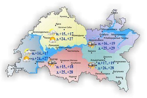 В Татарстане температура поднимется до +29 градусов