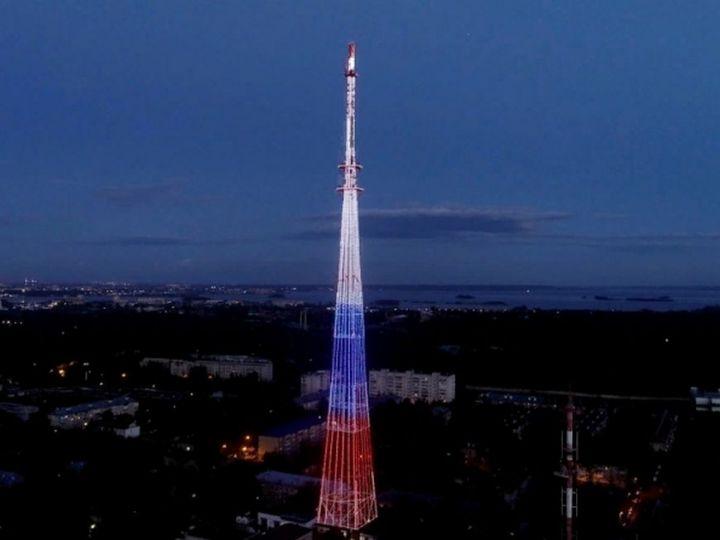 В дни выборов казанская телебашня окрасится в цвета флагов России и Татарстана