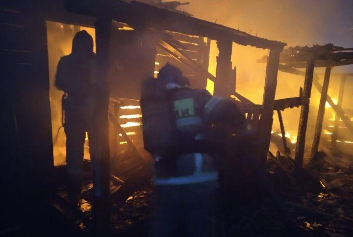 Три человека спаслись из горящего дома в Татарстане